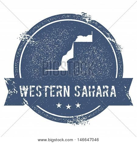 Western Sahara Mark. Travel Rubber Stamp With The Name And Map Of Western Sahara, Vector Illustratio