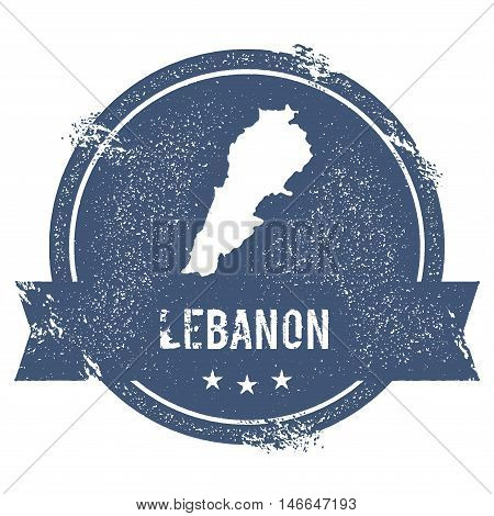 Lebanon Mark. Travel Rubber Stamp With The Name And Map Of Lebanon, Vector Illustration. Can Be Used