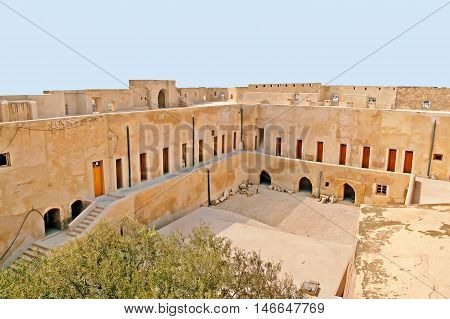 Inside mediaval fortress that nowadays serves as the archaeological museum of Sousse, Tunisia
