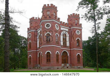 Arsenal Pavilion in Alexander Park in Tsarskoye Selo