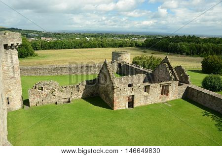 A view across the ruins of Craigmillar castle