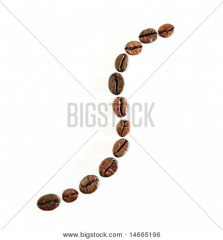 Coffee Beans Draw A S Line Symbol