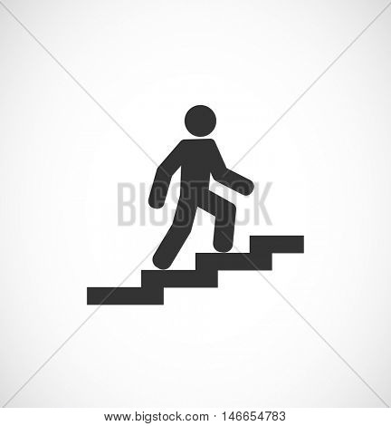 person walk upstair - sign