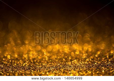 Festive background. Christmas and New Year feast bokeh background with