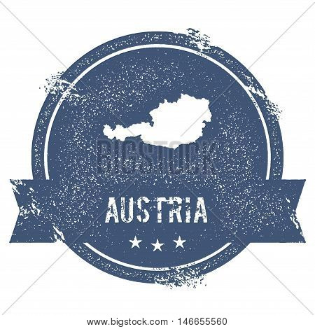 Austria Mark. Travel Rubber Stamp With The Name And Map Of Austria, Vector Illustration. Can Be Used