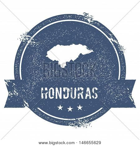 Honduras Mark. Travel Rubber Stamp With The Name And Map Of Honduras, Vector Illustration. Can Be Us