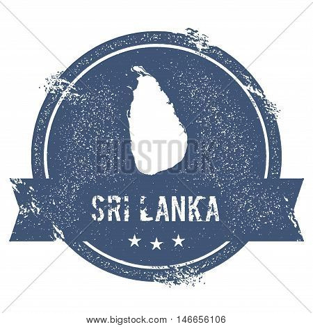 Sri Lanka Mark. Travel Rubber Stamp With The Name And Map Of Sri Lanka, Vector Illustration. Can Be