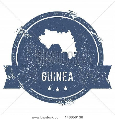 Guinea Mark. Travel Rubber Stamp With The Name And Map Of Guinea, Vector Illustration. Can Be Used A