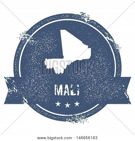 Mali Mark. Travel Rubber Stamp With The Name And Map Of Mali, Vector Illustration. Can Be Used As In