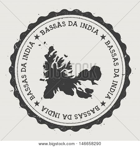 French Southern Territories Hipster Round Rubber Stamp With Country Map. Vintage Passport Stamp With