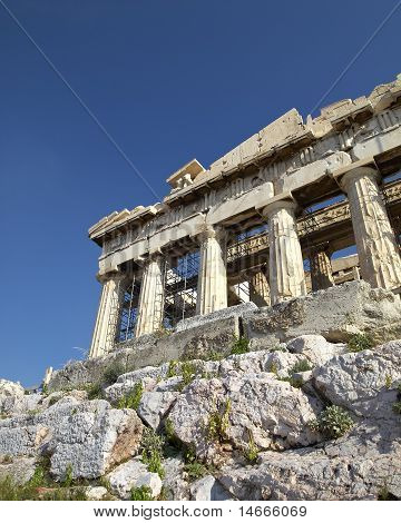 a view of Parthenon temple, Acropolis