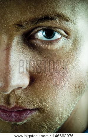 Young Man Face And Eye