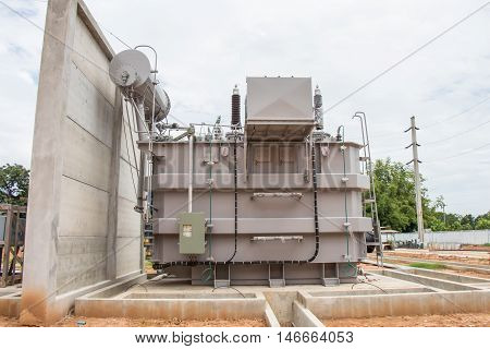 Power transformer in new sub station 115 kv/22 kv wait for wiring