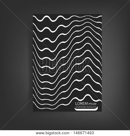 Abstract vector design for cover, poster, banner, flyer, business card, magazine annual report, title page, brochure template layout or booklet .A4 size with geometric shapes on white background.