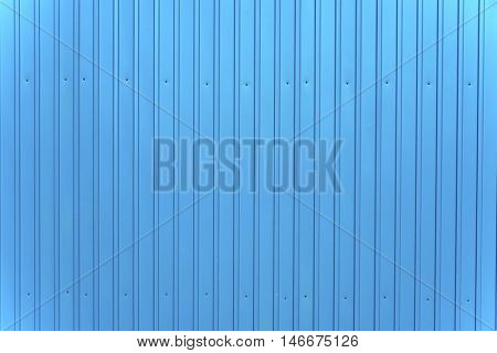Blue metal siding wall texture background