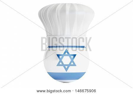 Israeli cuisine concept 3D rendering isolated on white background