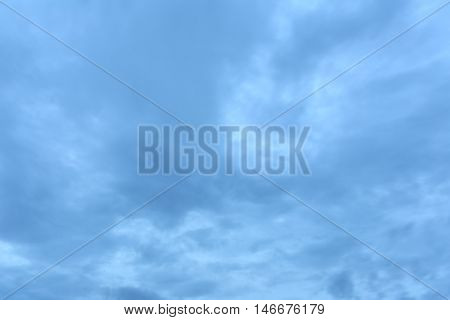 Rain clouds in evening sky and bad weather idea for Natural background is not bright.