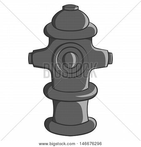 Fire hydrant icon in black monochrome style isolated on white background. Equipment symbol vector illustration