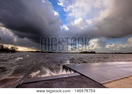 Storm Over Lake