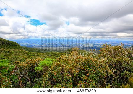 Beautiful Landscape View With Cloudy Sky, Taranaki, New Zealand