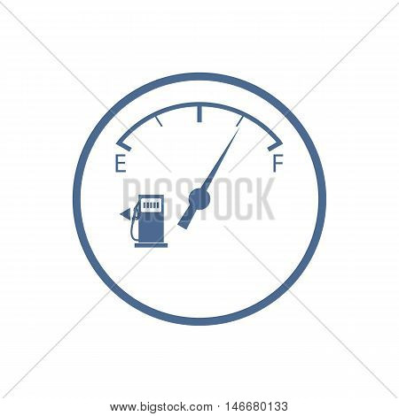 Stylized Icon Of The Automobile Fuel Sensor