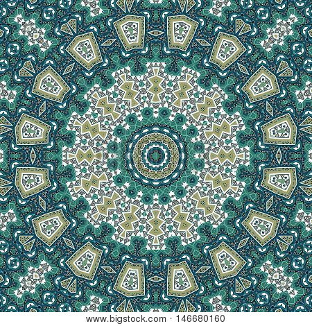 Folk ornamental textile seamless pattern background indigenous