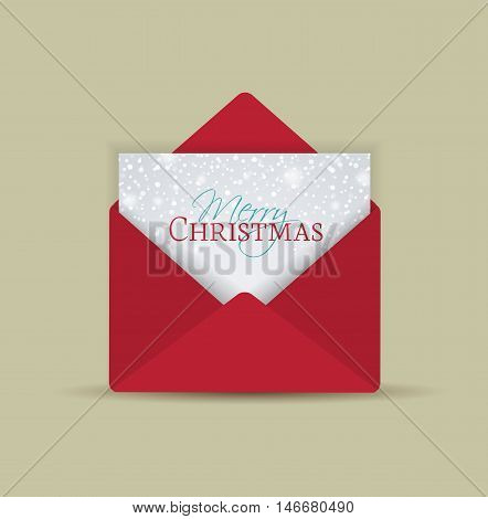 Vector retro Christmas envelope with place for text