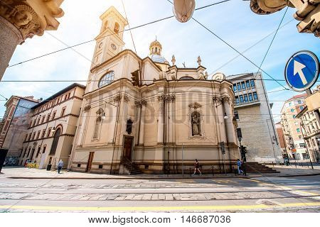 Chiesa Francescana di San Tommaso church in Turin city in Italy