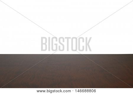 Wooden table on light background