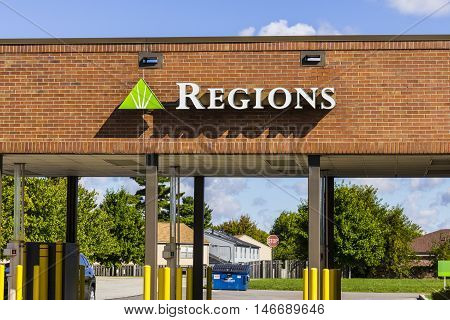 Indianapolis - Circa September 2016: Regions Financial Corporation. Regions is the only member of the Fortune 500 headquartered in Alabama II