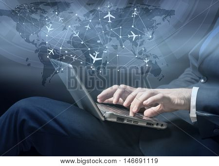 Concept of online booking for air travel