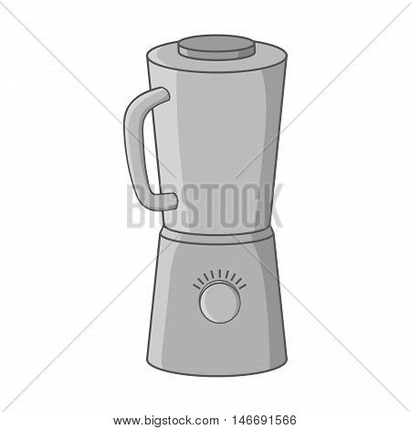 Blender icon in black monochrome style isolated on white background. Cooking in kitchen symbol vector illustration