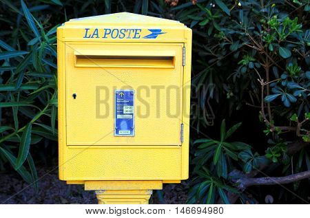 Port Grimaud, Provence, France - August 23 2016: French Post (