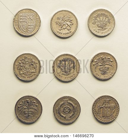 Vintage One Pound Coins