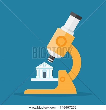 Bank under a microscope, financial control, the study of banking activities
