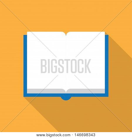 Vector blank magazine spread on white background.