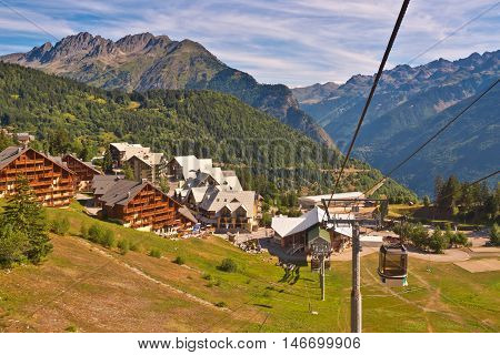 Cable Car In European Alps