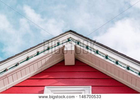 Photo of a red roof,Focus on the roof