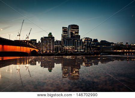 London cityscape at dawn