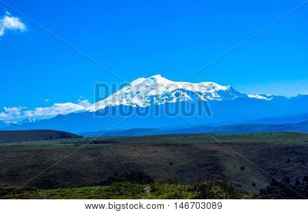 the highest Mount Elbrus, snow tops, nature