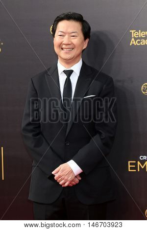 LOS ANGELES - SEP 10:  Ken Jeong at the 2016 Creative Arts Emmy Awards - Day 1 - Arrivals at the Microsoft Theater on September 10, 2016 in Los Angeles, CA