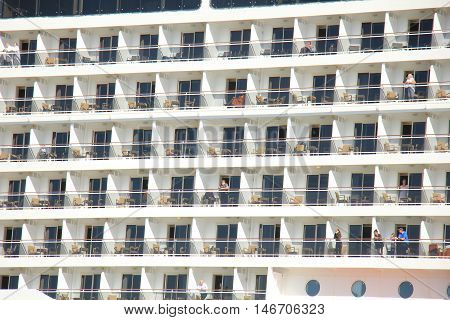 Velsen The Netherlands - September 10th 2016: MSC Splendida a cruise ship owned and operated by MSC Cruises cabin detail