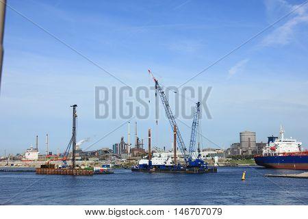 IJmuiden, the Netherlands, september 10th 2016: Biggest sea lock in the world