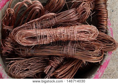 copper wire cables are used to recycling.