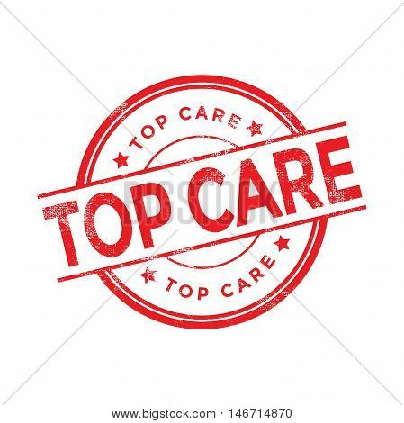 Top Care red rubber stamp isolated. vector illustration