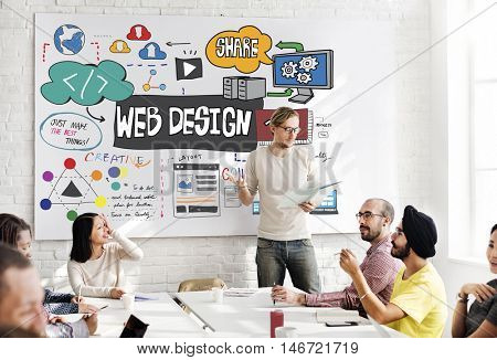 Web Design Blogging Layout Database Information Concept