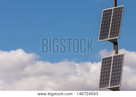 The Solar Cell Is Standing On The Street