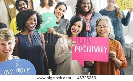 Positivity Mindset Thinking Wellness Concept