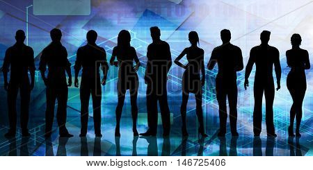 Future Leaders of the Next Generation of Business People 3D Illustration Render