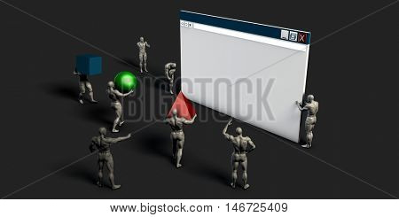 Web Development and Creating Online Application Through a Team 3D Illustration Render